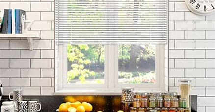 Aluminium venetians for kitchens