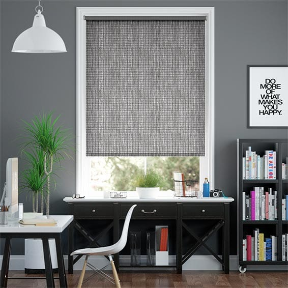 Adriana Glimmer Blackout Pewter Roller Blind