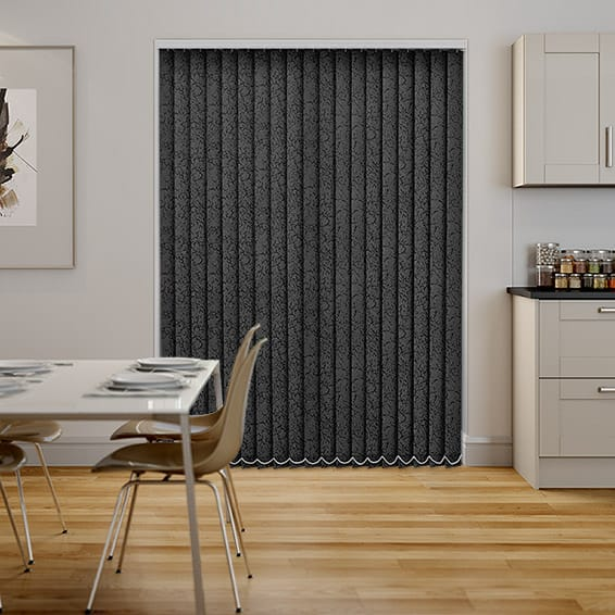 Alicante Marble Black Vertical Blind