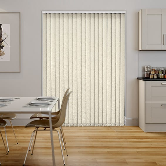 Alicante Marble Cream PVC Blackout Vertical Blind