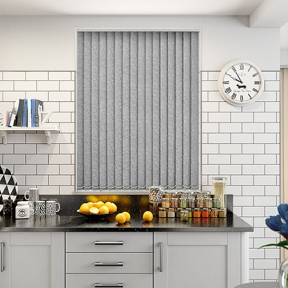 Alicante Marble Silver PVC Blackout Vertical Blind