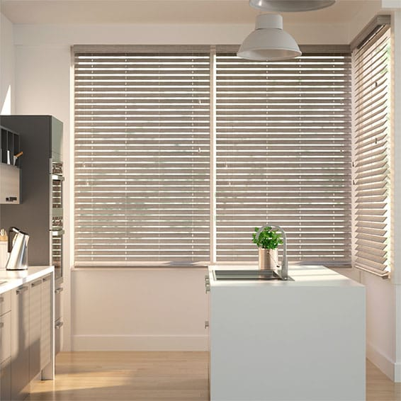 Metropolitan Ashen Oak - Wooden Blind - 50mm Slat