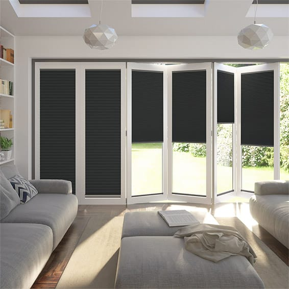 BiFold ClickFIT DuoLuxe Anthracite Pleated Blind
