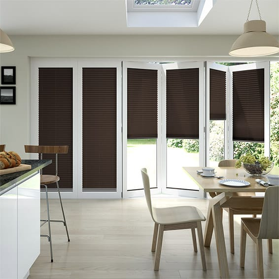 BiFold ClickFIT Cocoa Pleated Blind