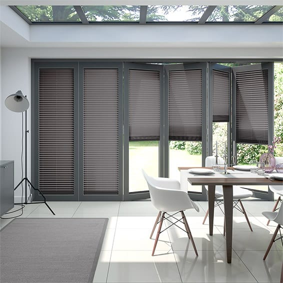 BiFold ClickFIT Storm Grey Pleated Blind