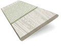 Birch Bark & Nickel Faux Wood Blind - 50mm Slat slat image