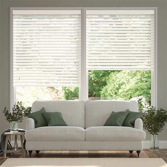 Buttermilk Faux Wood Blind - 50mm Slat