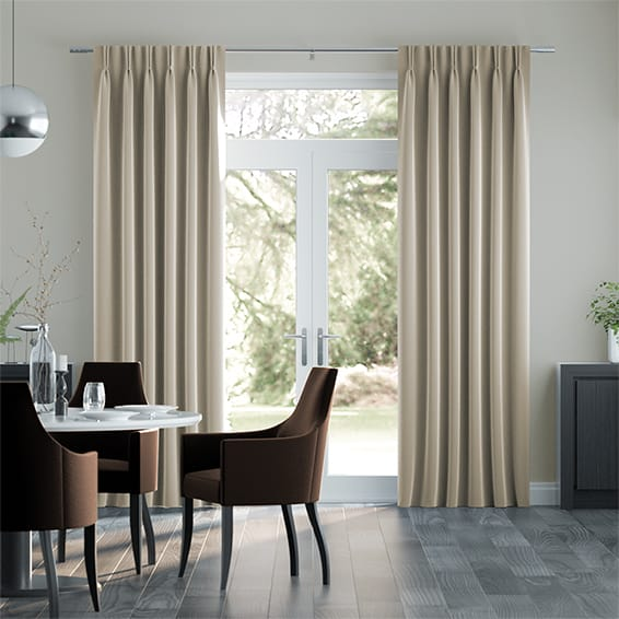 Canterbury Velvet Cream Curtains