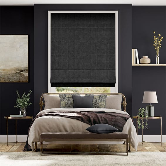 Cavendish Charcoal Roman Blind