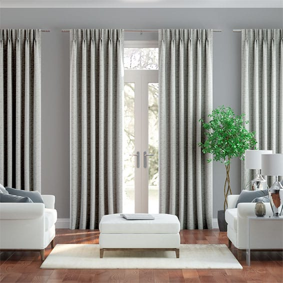 Chenille Chic Zinc Curtains