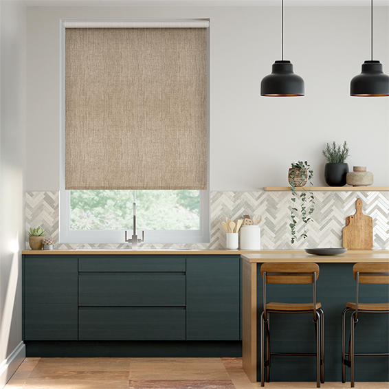 Thermal Luxe Biscuit Roller Blind