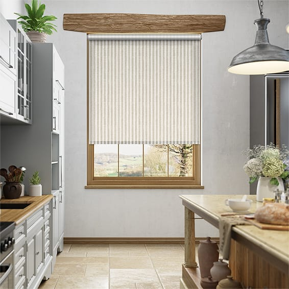 Choices Grande Stripe Linen Roller Blind