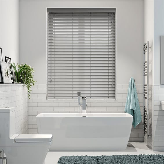 Cloud Grey Wooden Blind - 50mm Slat