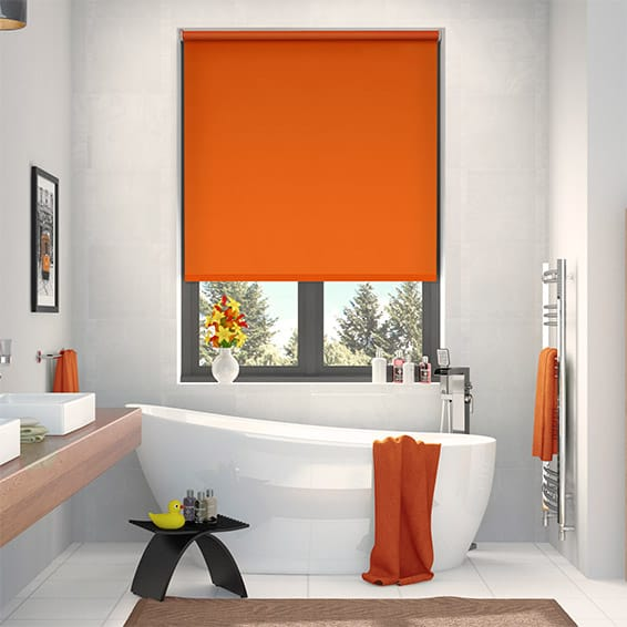 Cordoba Blackout Atomic Orange Roller Blind