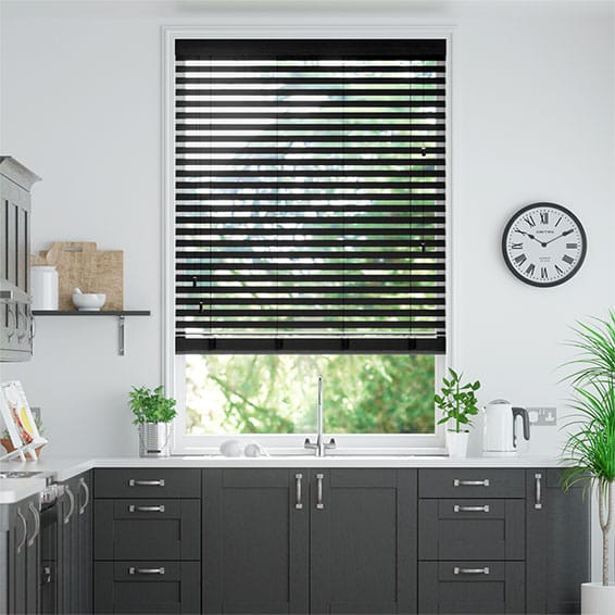 Cosmopolitan Deep Onyx Wooden Blind - 50mm Slat