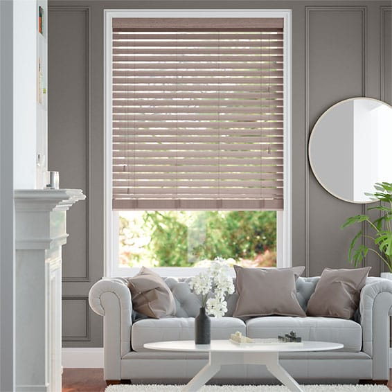 Cosmopolitan Nova Grey Wooden Blind - 50mm Slat