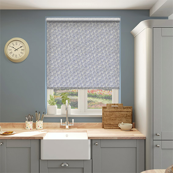 Choices Daisy Spot Blue Roller Blind