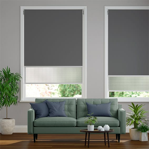 Double Roller Iron Grey Blind