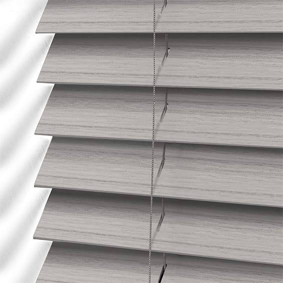 Dover Grey Faux Wood Blind 50mm Slat