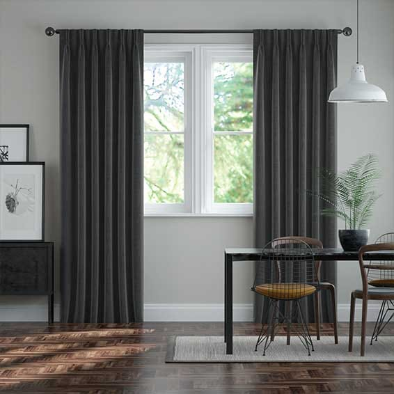 DuJour Velvet Gunmetal Grey Curtains