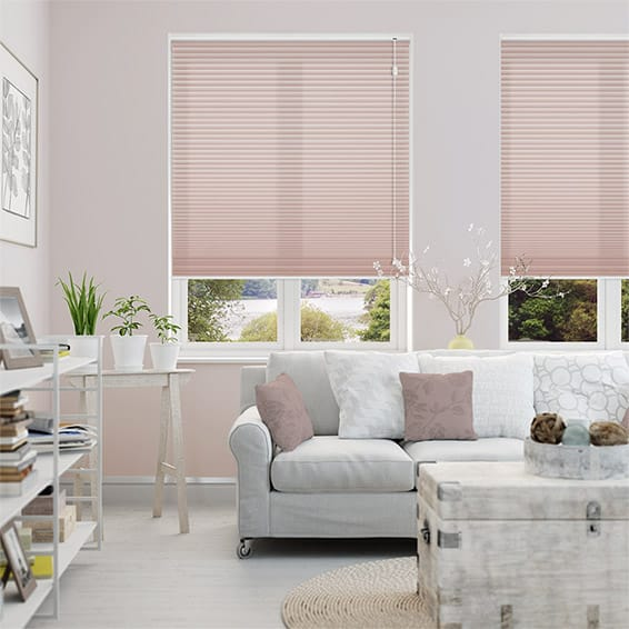 DuoLight Dusky Pink Thermal Blind