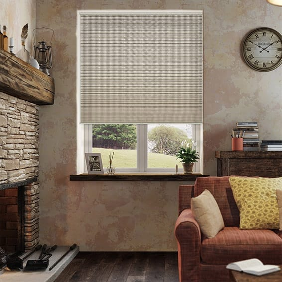 DuoShade Cordless Basket Weave Thermal Blind