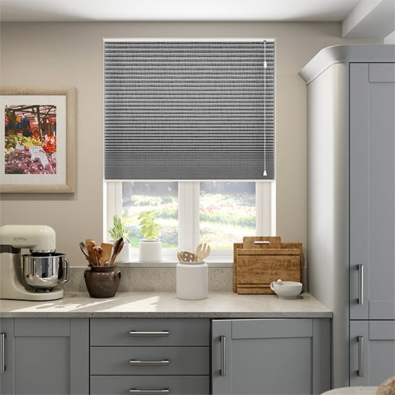 DuoShade Grey Weave Thermal Blind