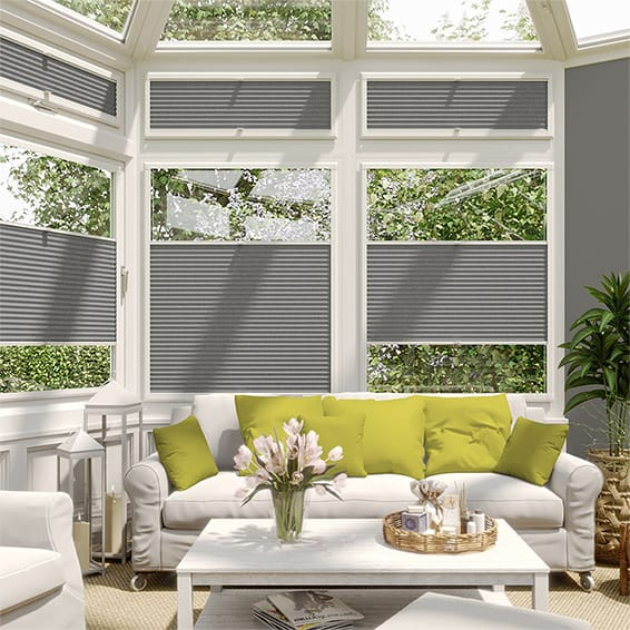 DuoShade Grey Weave PerfectFIT Thermal Blind