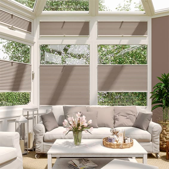 DuoShade Mushroom  EasiFIT Thermal Blind