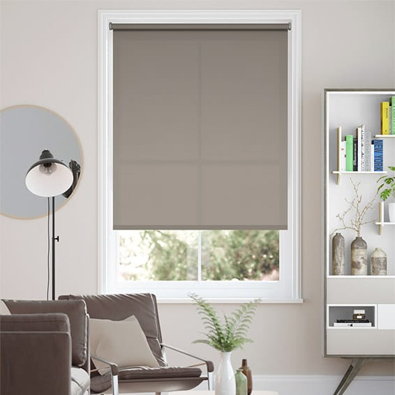 Eco-Friendly Dimout Grey Wash Roller Blind