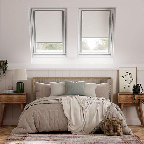 Elements Pale Grey Blackout Blind for VELUX ® Windows