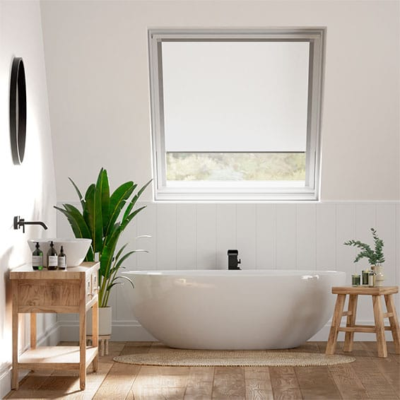 Elements Pure White Blackout Blind for Fakro Windows