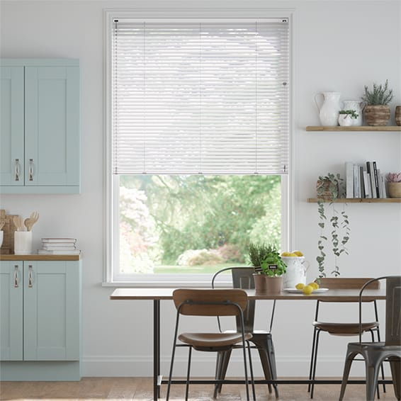 Elements White Venetian Blind - 25mm Slat