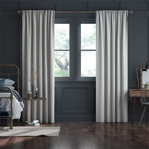 Elision Silver Curtains