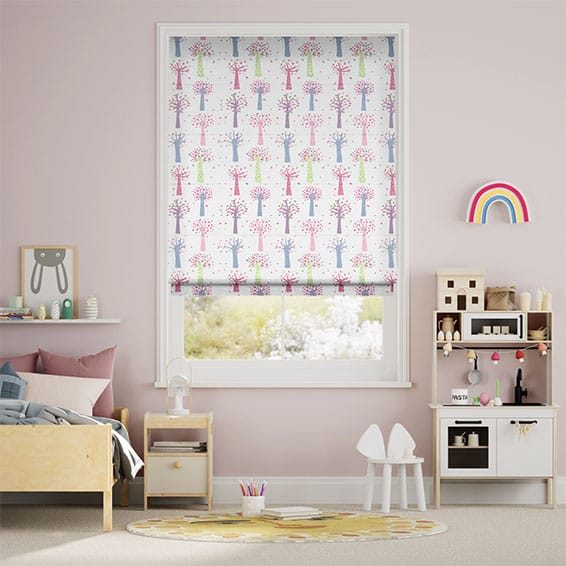 Enchanted Forest Candy Roman Blind