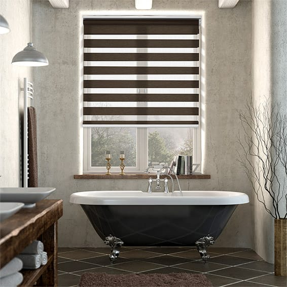 Enjoy Dark Wood Roller Blind