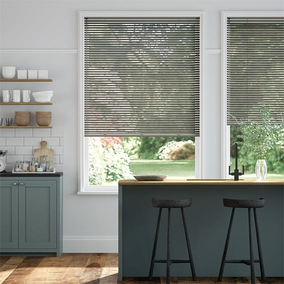 Essence Pearl Graphite Venetian Blind - 25mm Slat