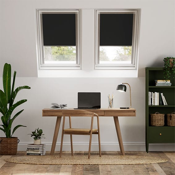 Expressions Eclipse Black Blackout Blind for Fakro Windows