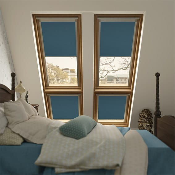 Expressions Electric Blue Blackout Blind for Fakro ® Windows