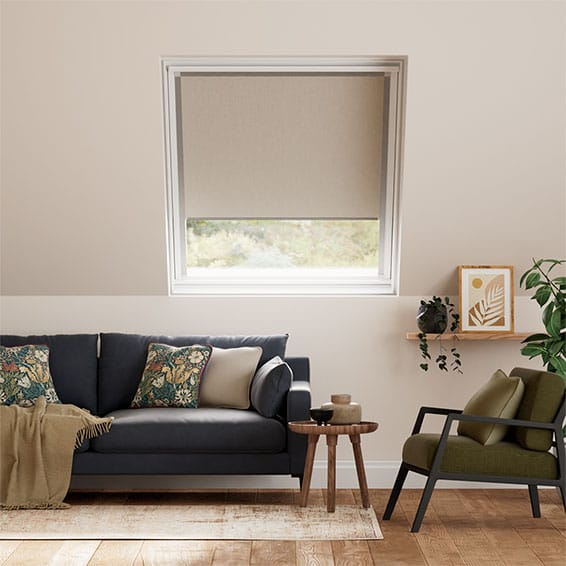 Expressions Light Taupe Blackout Blind for Dakstra/Rooflite Windows