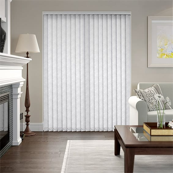 Flora Snow White Vertical Blind