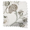 Floral Ink Linen Sepia Curtains slat image