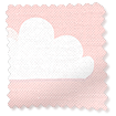 Fluffy Clouds Pink Roman Blind slat image