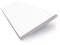 Glacier White Faux Wood Blind - 35mm Slat slat image
