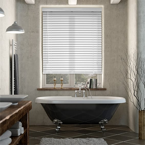 Grande Editions Sugar White Venetian Blind - 50mm Slat