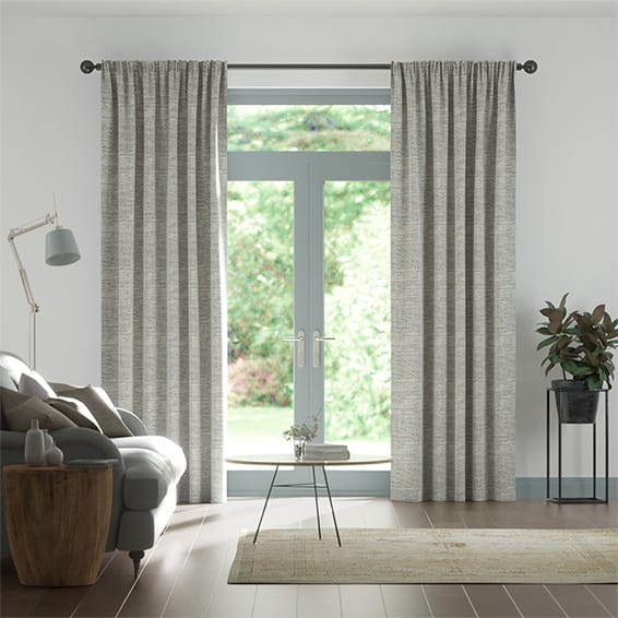 Harlow Woven Grey Curtains