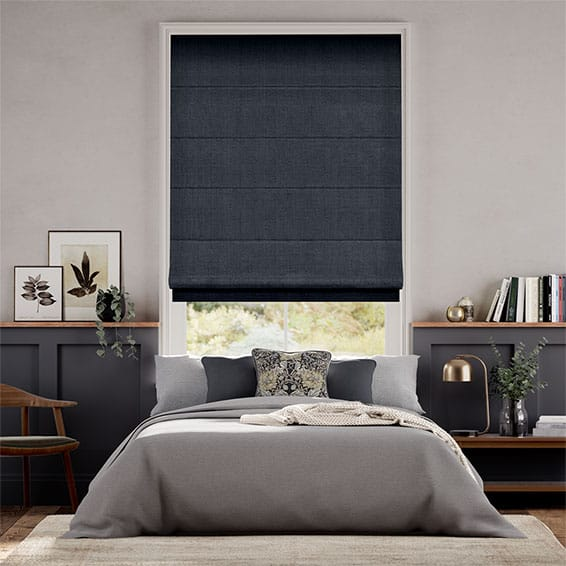 Harrow Navy Roman Blind