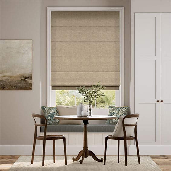 Harrow Oatmeal Roman Blind