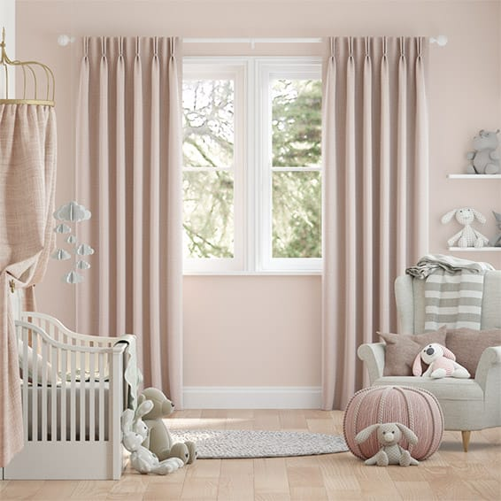 Harrow Warm Blush Curtains
