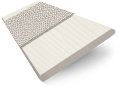 Ivory Lace & Silver Faux Wood Blind - 50mm Slat slat image